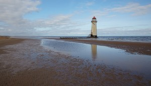 The lighthouse at Talacre Beach